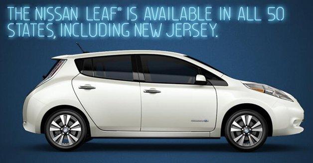 Nissan erlaubt sich einen Spaß über Verkaufsverbot von Tesla in New Jersey