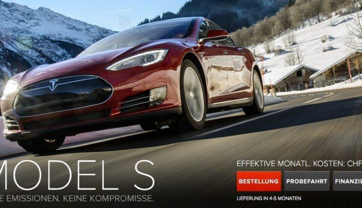 Tesla bietet Leasing nun auch in der Schweiz an