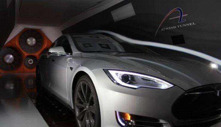 Tesla Model S mit der besten Aerodynamik im Windkanal-Vergleichstest