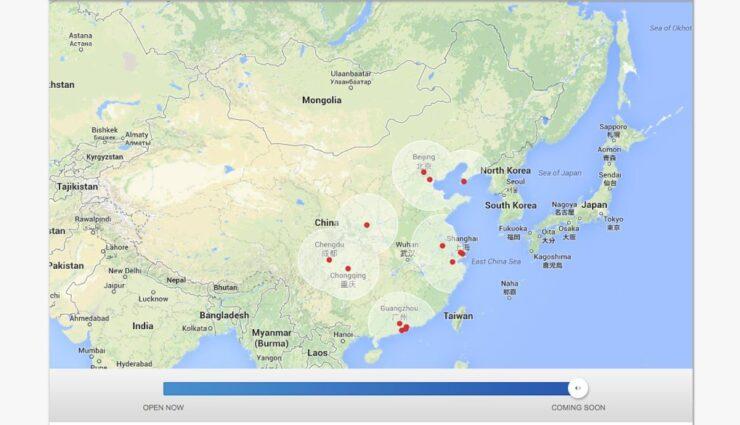 Tesla erweitert interaktive Supercharger-Karte um den asiatischen Markt