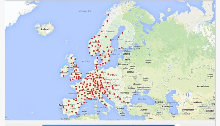 Tesla Motors aktualisiert Supercharger-Karte bis 2015, inklusive Spanien und Portugal