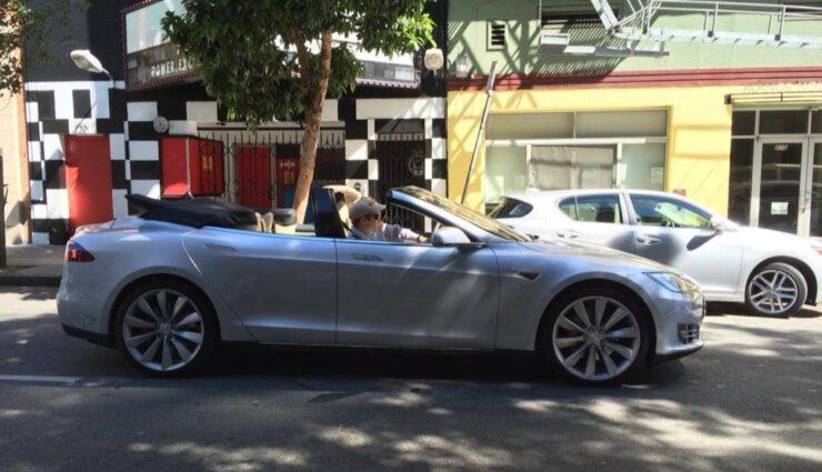 Erste Bilder und Video zum umgebauten Model S Cabrio aufgetaucht