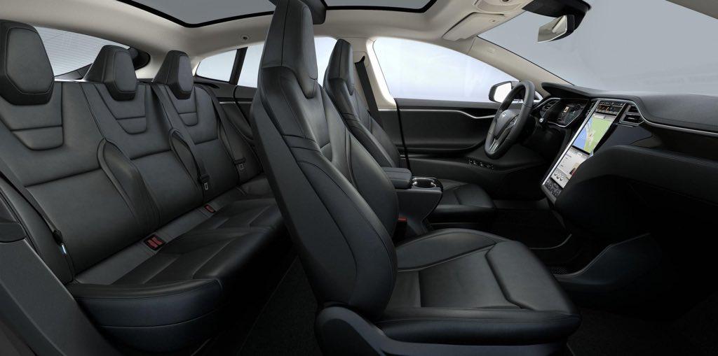 Erstes Bild Der Exklusiven Sitze Des P85d Modells