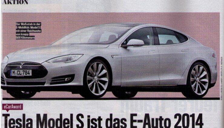 eCarAward: Tesla Model S ist das E-Auto des Jahres 2014