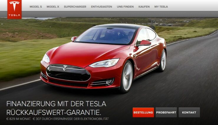 Tesla Motors bietet Rückkaufswert-Garantie nun auch in Deutschland an