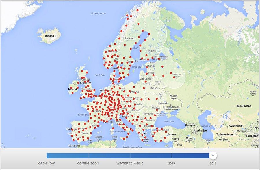 tesla supercharger karte Tesla Motors aktualisiert europäische Supercharger Karte bis 2016