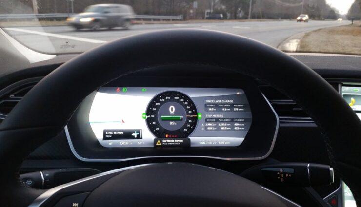 Plötzlicher Energieverlust im Range Mode bei Model S mit Allradantrieb und Firmware 6.1