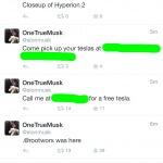 Elon's Twitter-Account gehackt