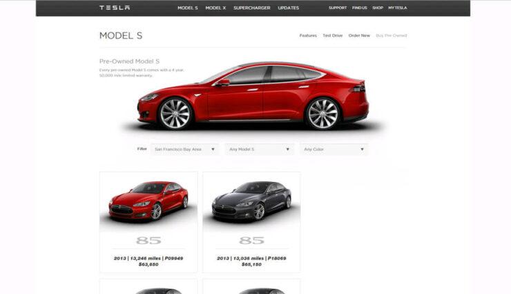 Gebrauchte Model S werden jetzt auch über Tesla-Homepage verkauft