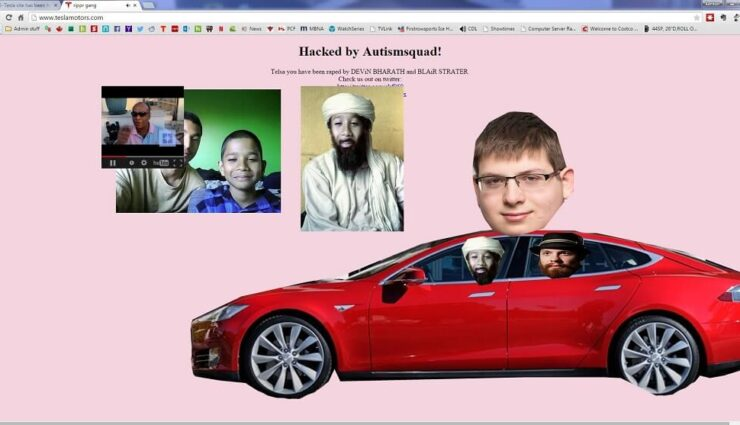Hompage von Tesla Motors und Twitter-Account von Elon Musk wurden gehackt