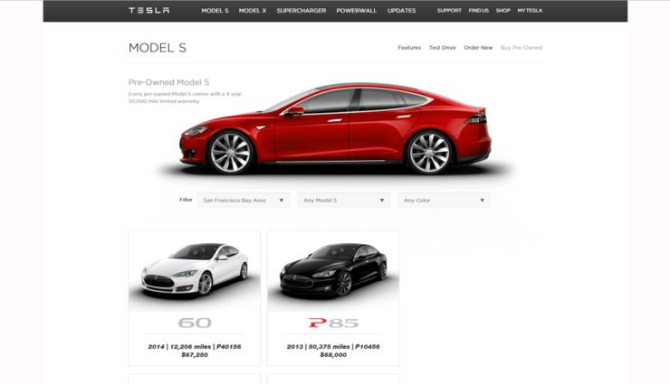Der Verkauf gebrauchter Tesla Model S läuft gut an