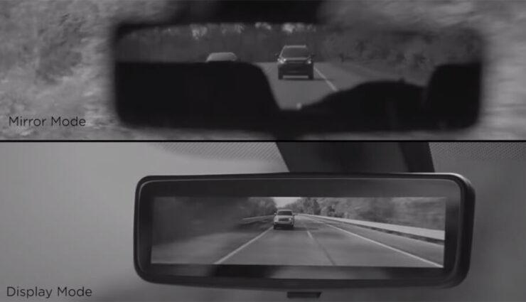 Tesla Model X womöglich mit Display im Rückspiegel ausgestattet