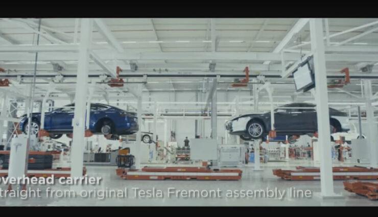 Im Video festgehalten: Die Reise eines Model S in der Fertigungsstätte in Tilburg