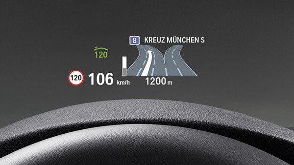 Head-up-Display von BMW.