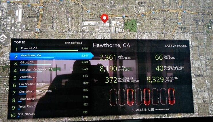 Echtzeit Supercharger-Verfügbarkeit soll bald in der Navigation angezeigt werden