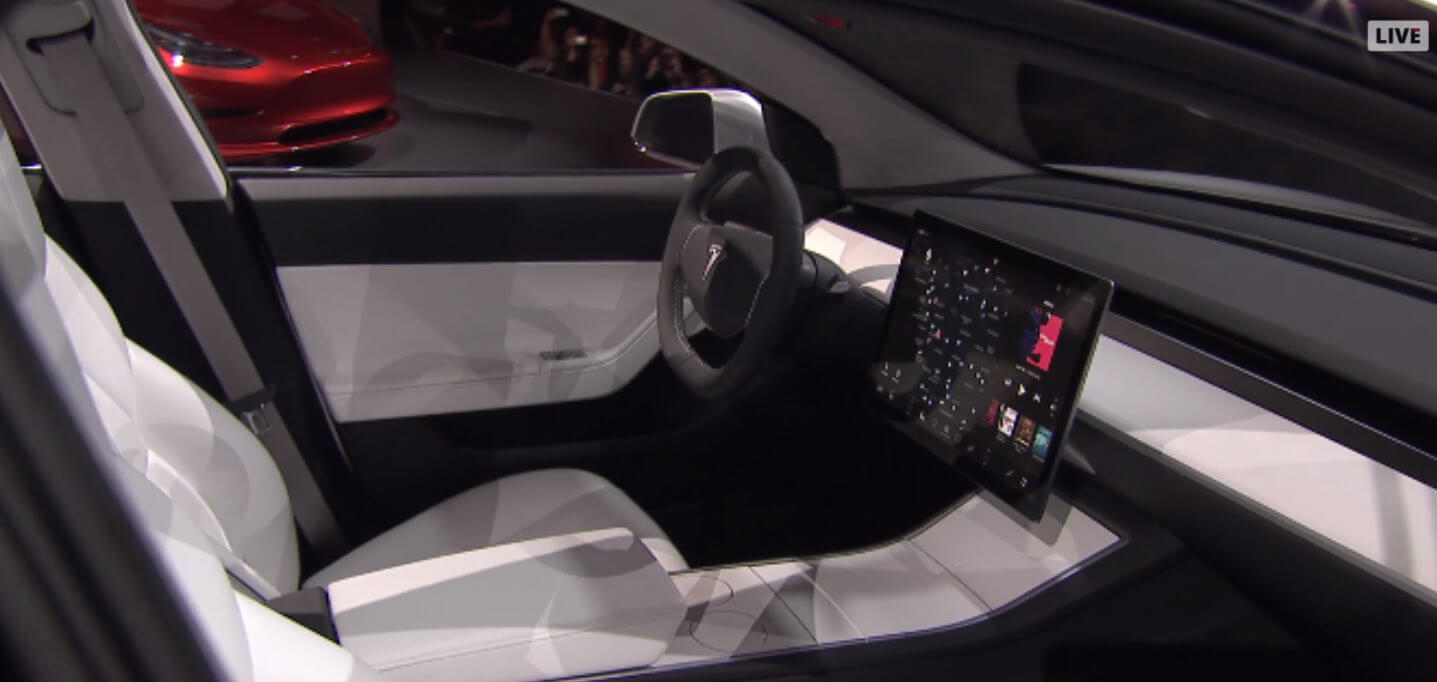 15 zoll display im model 3 stammt von lg for Tesla model 3 interieur