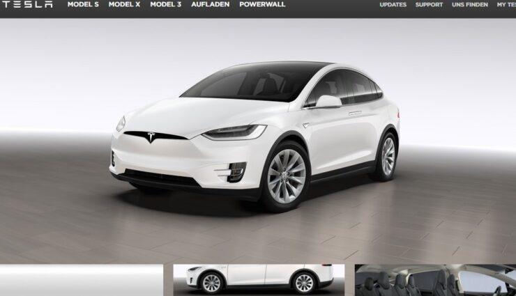 Tesla Model X: Online-Konfigurator ab sofort auch in Deutschland für jedermann zugänglich