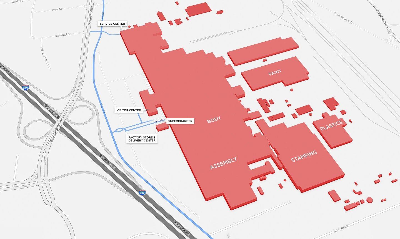 tesla-fremont-produktionsstaette-karte