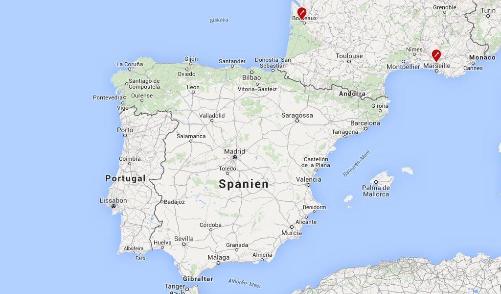Der nächste Service Center für Kunden aus Portugal oder Spanien ist in Frankreich.
