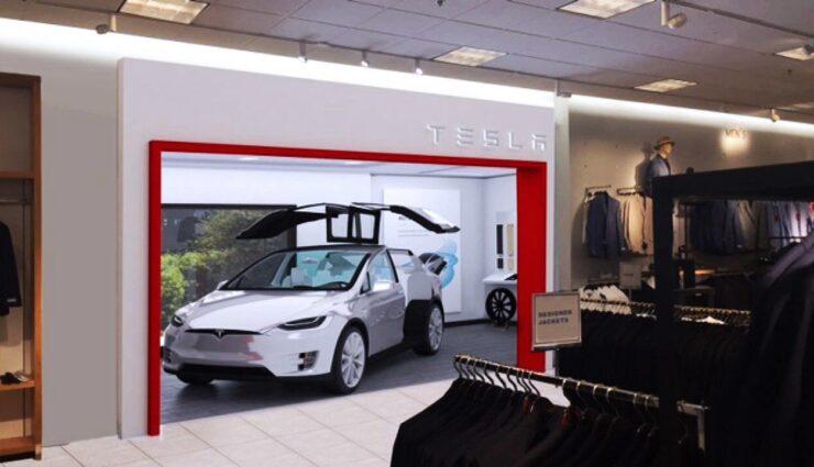 Pilotprojekt: Tesla eröffnet erste Galerie in der US-Kaufhauskette Nordstrom