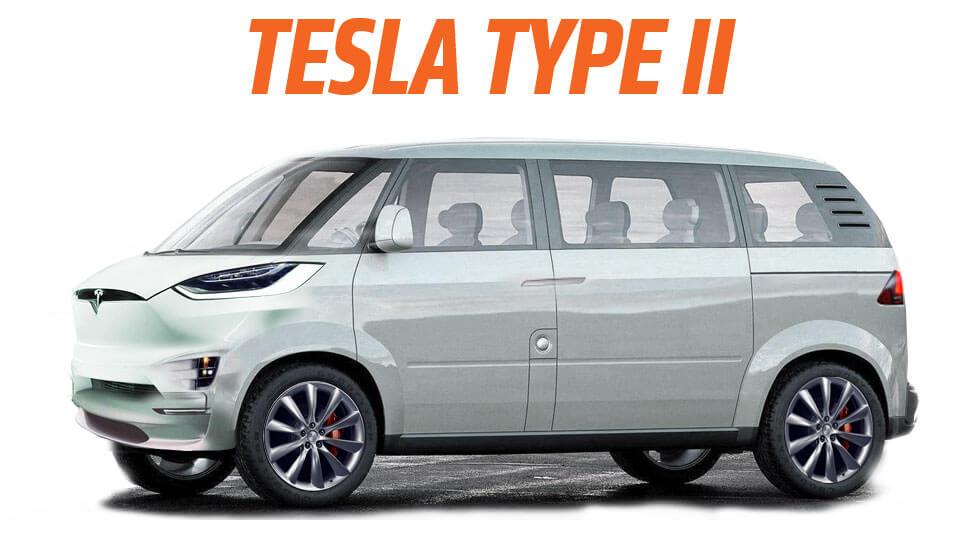 Tesla Kleinbus Konzept - Fusion zwischen VW Multivan und Tesla Model X (Bild © Jalopnik)