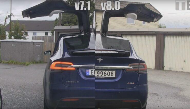 Model X: Falcon Wing-Türen öffnen und schließen deutlich schneller nach Firmware-Update v8.0