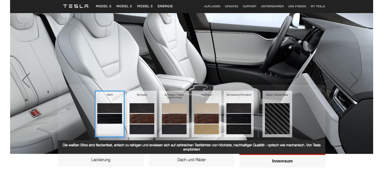 Tesla f hrt neue modellvariante 100d beim model s und for Innenraum design app