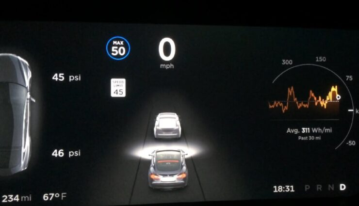 Verbesserter Autopilot: Bug sorgt für zittrige Straßen auf dem Instrumentendisplay