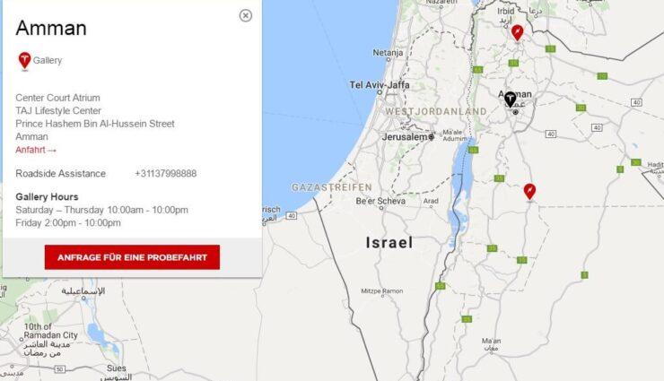 Model S und Model X nun auch in Jordanien bestellbar
