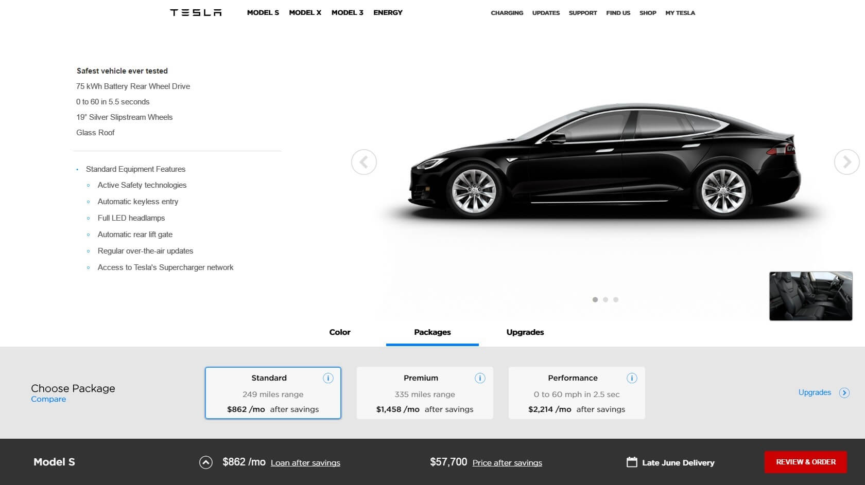 tesla testet neuen online konfigurator vor model 3. Black Bedroom Furniture Sets. Home Design Ideas