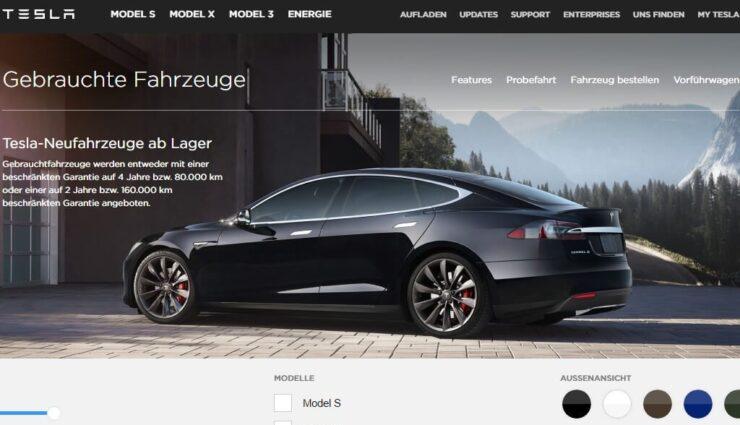 Tesla möchte mehr Aufmerksamkeit auf eigene Gebrauchtfahrzeuge lenken