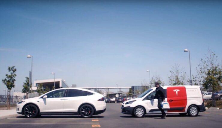 Kunden sollen mobile Servicefahrzeuge schon bald via App anfordern können, sagt Musk
