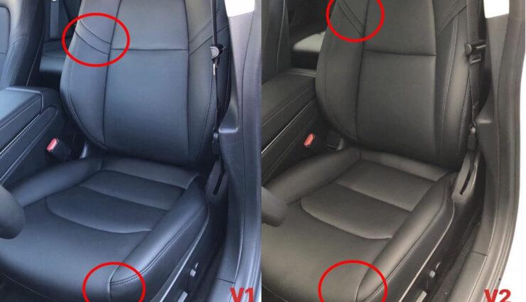 Neue, leicht veränderte Sitze beim Tesla Model 3