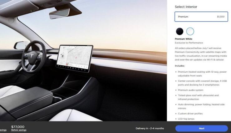 Model 3: Zahlreiche Änderungen beim Online-Konfigurator, inkl. neue Preisstruktur