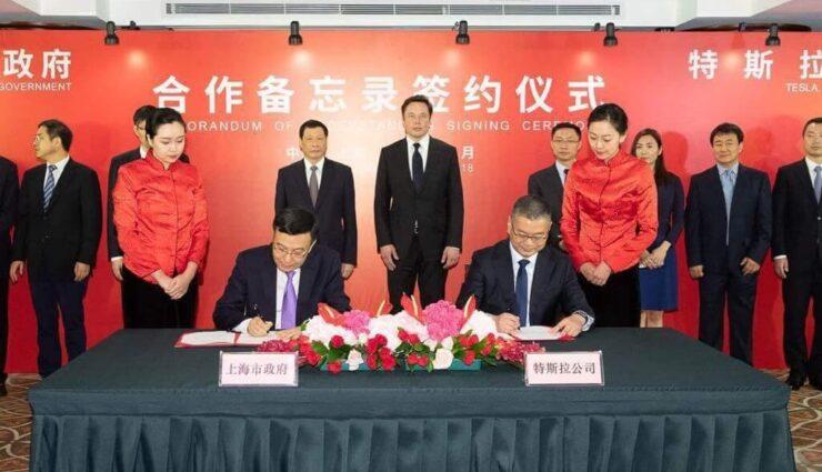 Offiziell: Tesla unterzeichnet Vertrag für Produktionsstätte in China