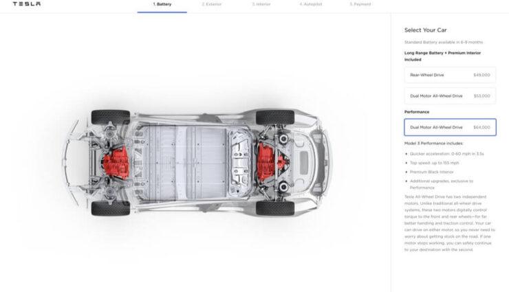 Tesla öffnet Model 3 Online-Konfigurator für jeden in USA und Kanada