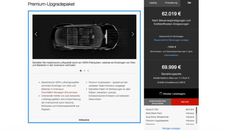 Model S/X: Premium-Upgradepaket gehört ab sofort zur Standard-Ausstattung