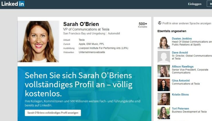 Sarah O'Brien, VP of Communications, wird Tesla verlassen
