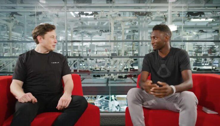 Musk im Interview mit Youtuber MKBHD über aktuelle und zukünftige Tesla-Projekte
