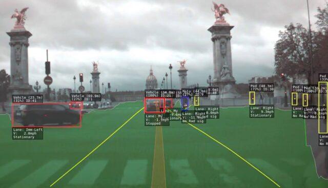 Tesla-Autopilot-Visualisierung-Paris-Video