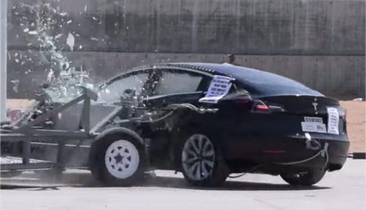 Ausführliches Video zu den NHTSA-Crashtests des Model 3