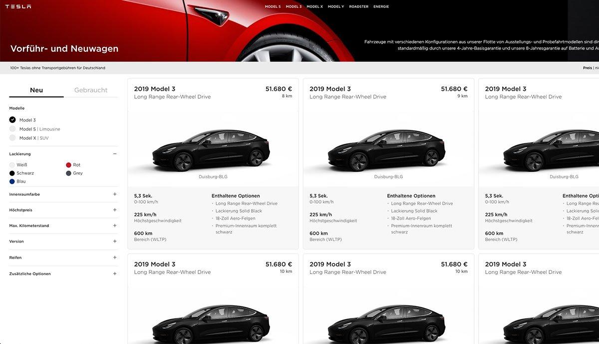 Tesla-Model-3-Bestandsfahrzeuge
