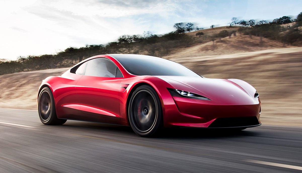 Tesla-Roadster-Schweben