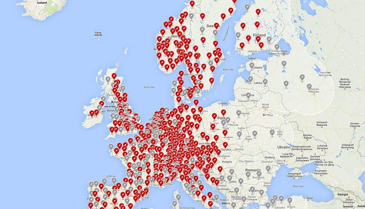 Tesla aktualisiert Karte geplanter Schnelllade-Standorte ...