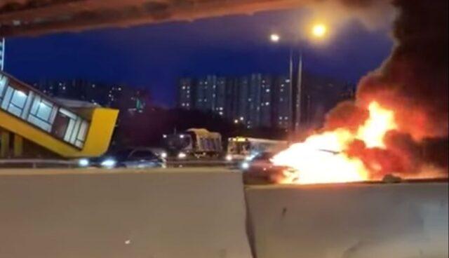 Tesla-Brand-Feuer-Russland