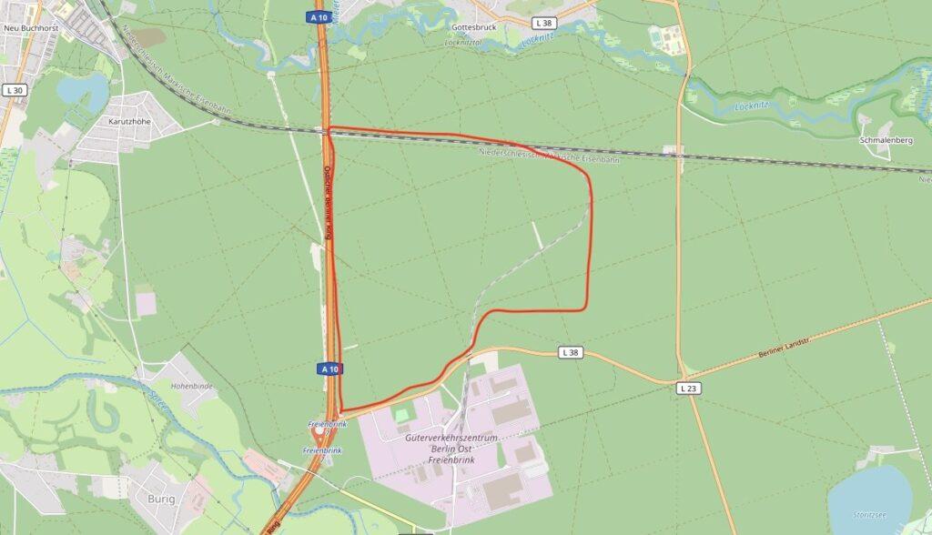 grünheide map fabrik