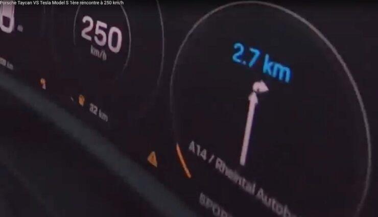 taycan 250 kmh