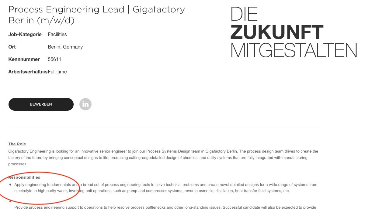 tesla anzeige gigafactory zellfertigung