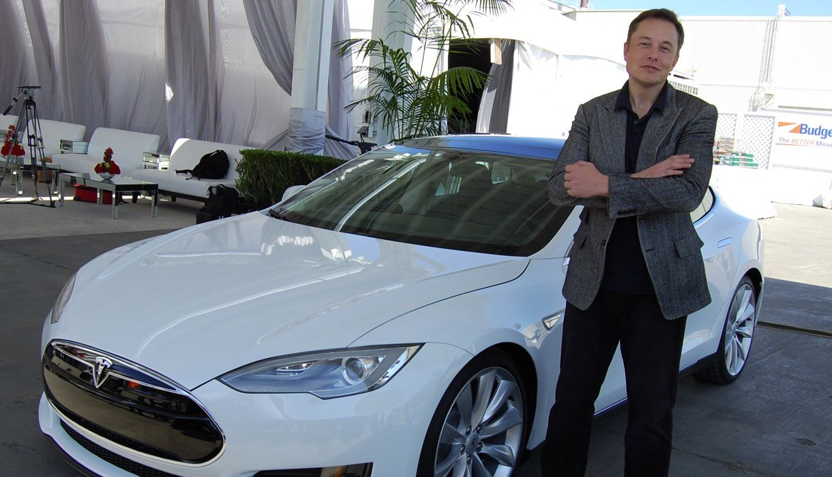 Musk in Front of Model S