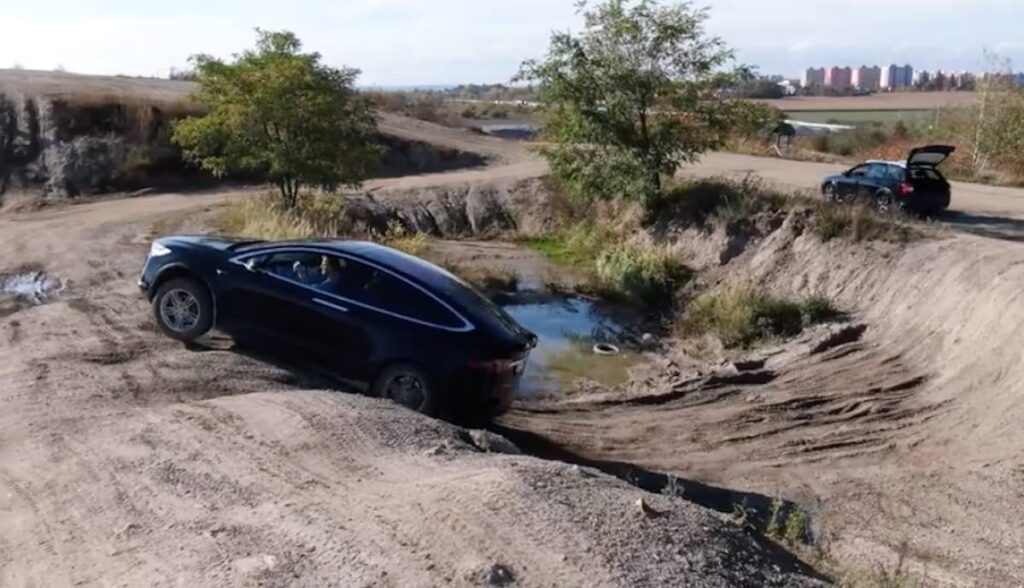 tesla model x offroad